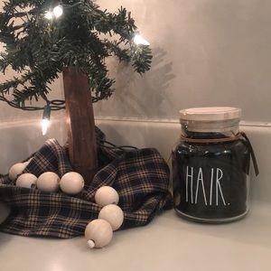 Rae Dunn Hair Ties in glass jar